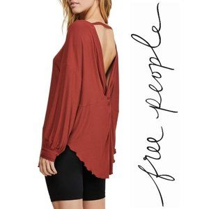 NWT Free People Shimmy Shake Top in Rust